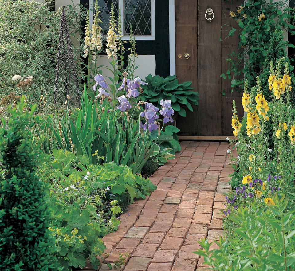 antique brick garden paving