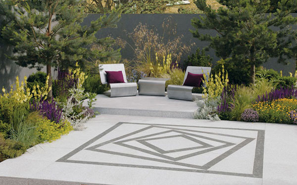 Arctic Granite Revolve Garden Paving Feature