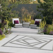 Arctic Granite Revolve Paving Feature
