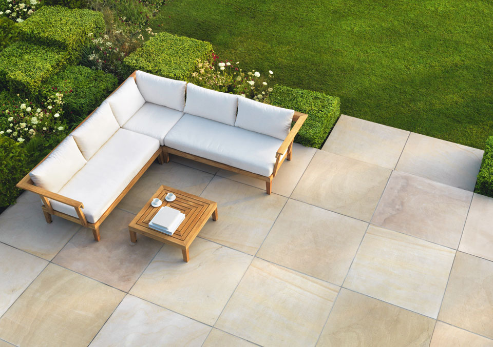 Avant garde natural stone garden paving stonemarket for Paving stone garden designs