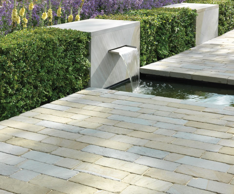 Scoutmoor indigenous blue grey stone garden setts for Grey rocks for landscaping