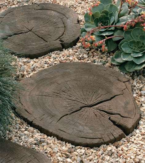 timberstone log garden stepping stones stonemarket. Black Bedroom Furniture Sets. Home Design Ideas