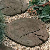 View Timberstone Log Garden Stepping Stones lifestyle image 1