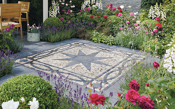 Truslate Star Circle and Border Paving Features