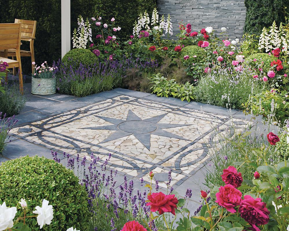 Truslate garden paving features stonemarket for Blue slate garden designs