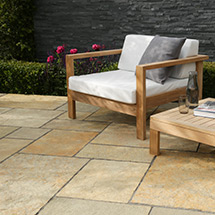 View Trustone Cotsdale Limestone Garden Paving lifestyle image 1
