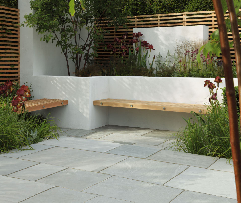 Trustone Fellstyle Light Grey Riven Stone Paving
