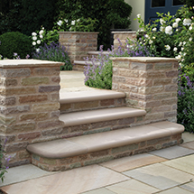 View Trustone Glenmoor Riven Stone Garden Paving lifestyle image 2