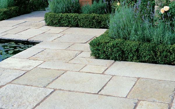 Vintage Limestone Garden Paving