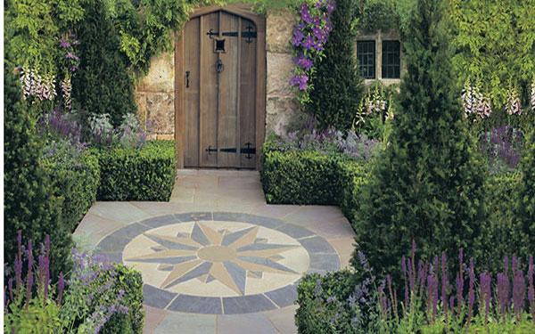 Vintage Stone Radius Garden Paving