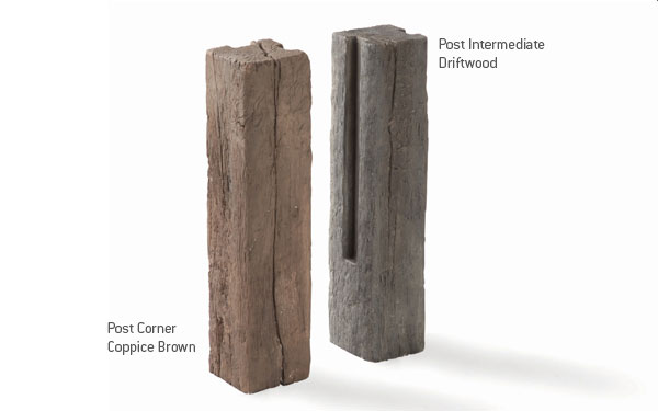 Timberstone Posts and Sleepers for Planters / Raised Beds Colours