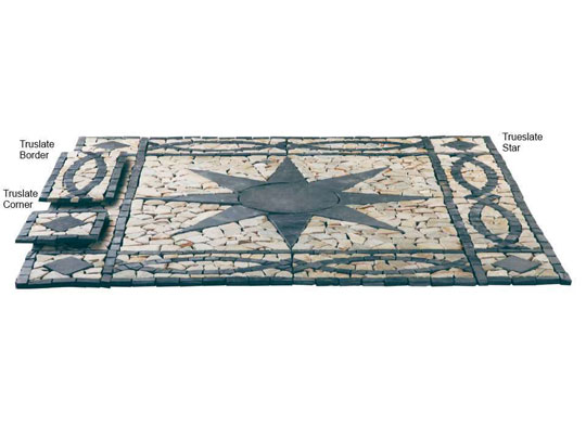 Truslate Star Circle and Border Paving Features Colours