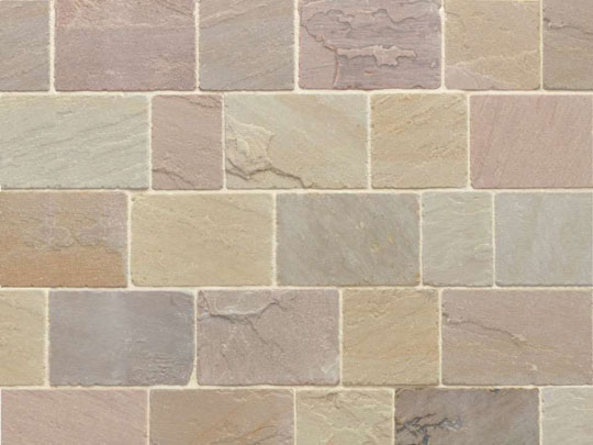 Trustone Fieldland Riven Sandstone Garden Paving Colours