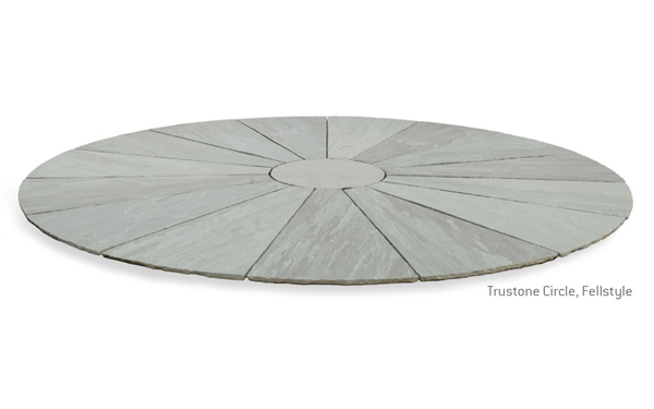 Trustone Radius Garden Paving Circle Colours