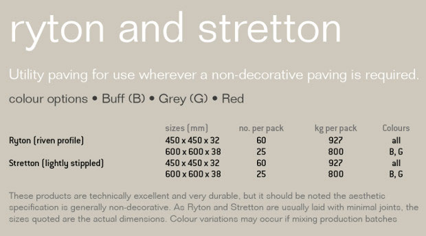 Stretton Utility Garden Paving Specification